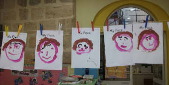 Ourselves, My Face, Painting, Paint, Face, Draw, Painting My Face, Faces, Classroom Display, Early Years (EYFS), KS1 & KS2 Primary Teaching Resources