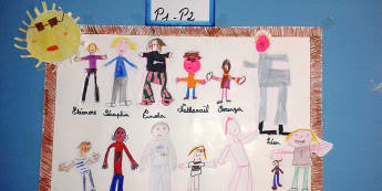 Ourselves, Our Class, Self Portraits, Drawing, Self Registration, Display, Classroom Display, Early Years (EYFS), KS1 & KS2 Primary Teaching Resources