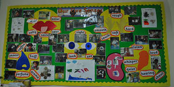 Ourselves, Our five senses, Hear, Sound, Taste, Touch, Smell, Sight, Display, Classroom Display, Early Years (EYFS), KS1 & KS2 Primary Teaching Resources