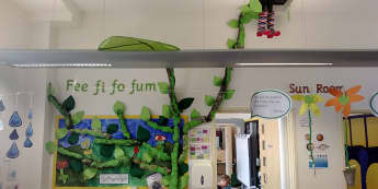 Stories & Tales, Jack & the Beanstalk, Fee Fi Fo Fum, The Beanstalk, Display, Classroom Display, Early Years (EYFS), KS1 & KS2 Primary Teaching Resources