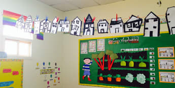 Literacy, Oliver's Vegetables, Oliver, Houses, Creative Area, Carrots, Display, Classroom Display, Early Years (EYFS), KS1 & KS2 Primary Teaching Resources