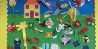 Minibeasts, Our Bug Garden, Gardens, Beasties, Bugs, Houses and Homes, Display, Classroom Display, Early Years (EYFS), KS1 & KS2 Primary Teaching Resources