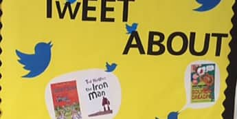 Literacy, Books to tweet about, Books, Books, The Iron Man Display, Reading, Classroom Display, Early Years (EYFS), KS1 & KS2 Primary Teaching Resources