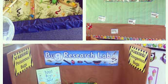 Minibeasts, Bug Research Lab, Danger, Dangerous Bugs, Poisonous Bugs, Display, Classroom Display, Early Years (EYFS), KS1 & KS2 Primary Teaching Resources