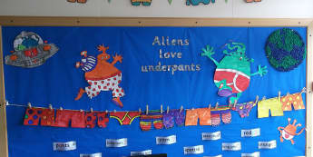 Stories & Tales, Aliens Love Underpants, Books, Reading, literacy, Display, Classroom Display, Early Years (EYFS), KS1 & KS2 Primary Teaching Resources