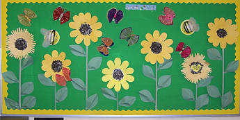Flowers Display, classroom display, class display, Plants, flowers, growth, growing, planting, butterfly, Early Years (EYFS), KS1 & KS2 Primary Resources