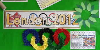 London 2012 Display, classroom display, class display, London 2012, Olympics, London, countries, sport, Early Years (EYFS), KS1 & KS2 Primary Resources