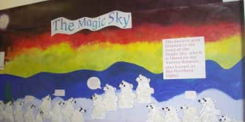 The Magic Sky Display, classroom display, class display, Story, nursery rhyme, reading, The magic sky, Early Years (EYFS), KS1 & KS2 Primary Resources