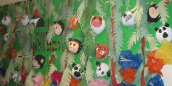 Rainforest Jungle Animals Display, classroom display, class display, rainforest, jungle, animals, animal, Early Years (EYFS), KS1 & KS2 Primary Resources