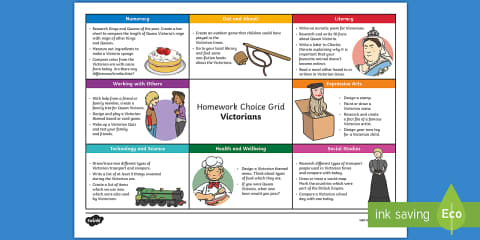 preview of Victorian CfE Homework Grid