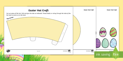 preview of Easter Hat Craft Activity