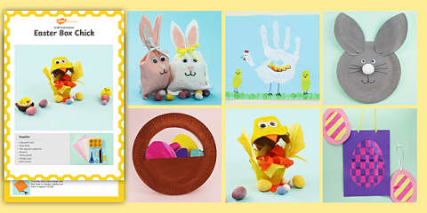 preview of EYFS/KS1 Easter Craft Activity Pack