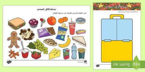 الغذاء الصحي والغير صحي بوربوينت