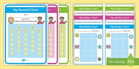 Free Reward Chart Pack Teacher Made