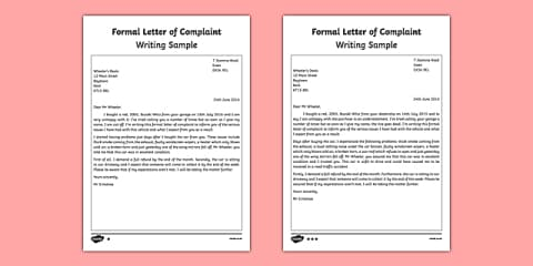 Complaint Letter Template from images.twinkl.co.uk