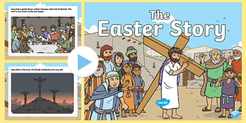 preview of The Easter Story KS1 PowerPoint
