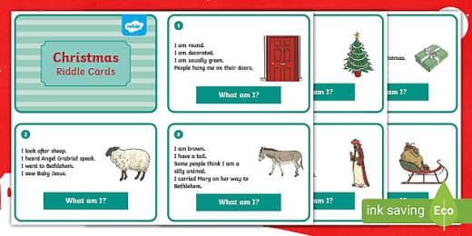 Christmas Riddles Worksheet Teaching Resources