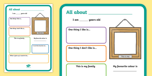 All About Me Questions Worksheet Icebreaker Activity