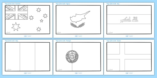 - FREE! - Flags Of The World Colouring Sheets - Printable Templates