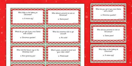 Christmas Jokes Matching Activity Teacher Made