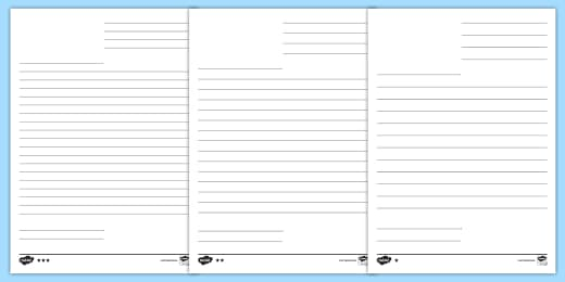 Free Blank Letter Template Word Document