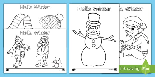Winter Colouring Pages (teacher made)
