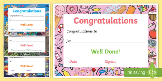 Congratulations Certificate Template from images.twinkl.co.uk
