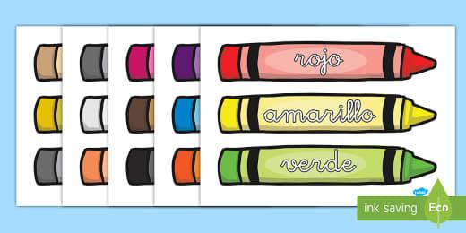 Palabras Temáticas En Imagen Los Colores Teacher Made