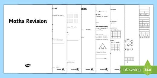 Year 6 Sats Revision Worksheets Online Maths Booklet