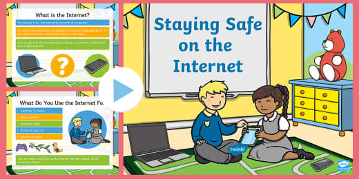 Cyber Safety For Kids Online Internet Powerpoint Y 1 6