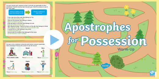 Plural Or Possessive Apostrophe Interactive Games