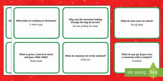 Christmas Cracker Jokes Printable Resources Twinkl
