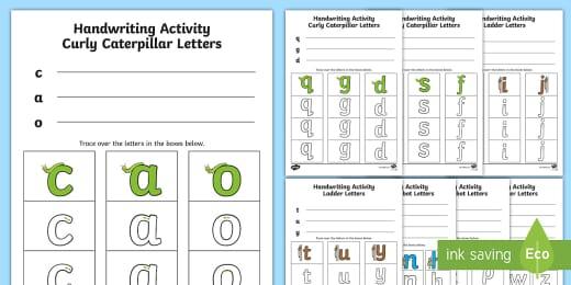 Handwriting Worksheets Printable Cvc Words Letters