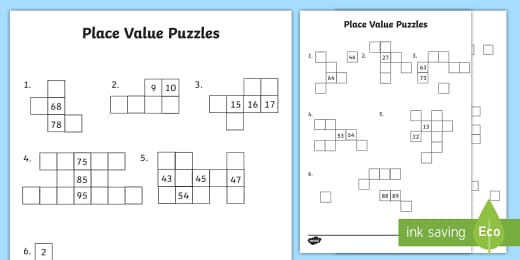 Year 2 Place Value Puzzles Worksheet Worksheet