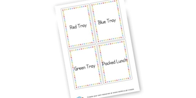Lunch labels - Classroom Signs & Label Primary Resources, labels, posters, rules
