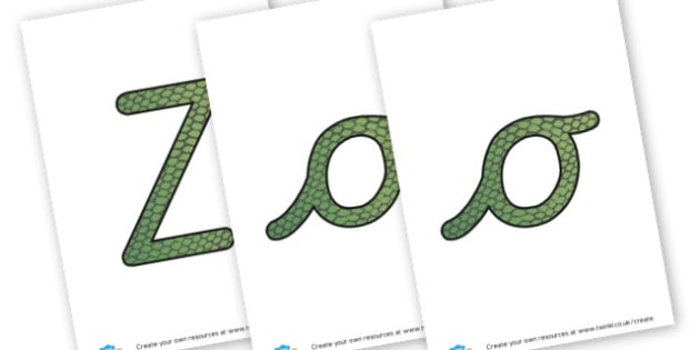 Zoo Lab Title - The Zoo Display Primary Resources, animals, zoology, living things