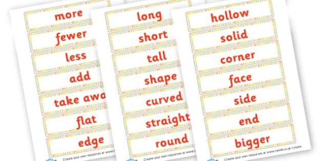 Maths vocabulary - Primary Resources Maths, maths vocab, cards, math, numbers, count