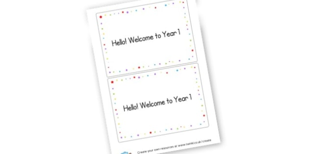 Welcome to Year 1 Cards - Transition Primary Resources, Transition, Back to School, Moving