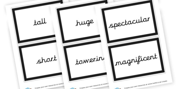 Adjectives Word Cards - KS2 Adjectives Primary Resources, Adjectives, Word Types, Words