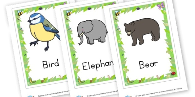 Animals Flashcards - Primary Resources English, Literacy, Letters and Sounds, phonics
