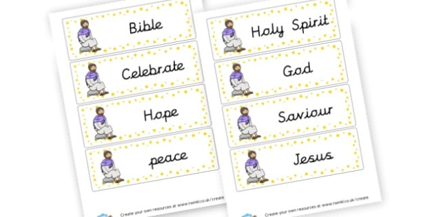 Jesus Cards - Christianity, Literacy,  Primary Resources, religion, faith, chri