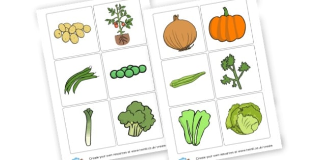 Vegetables Picture Cards - Fruit and Vegetables Classroom Signs and Labels Primary Resources