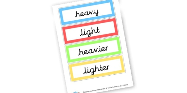 Weight - Measuring, Size & Weight Primary Resources, shapes, shape, space