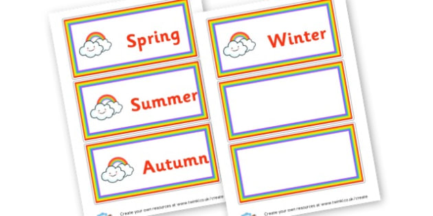Seasons Labels - All Four Seasons Literacy  Primary Resources, Primary,Literacy
