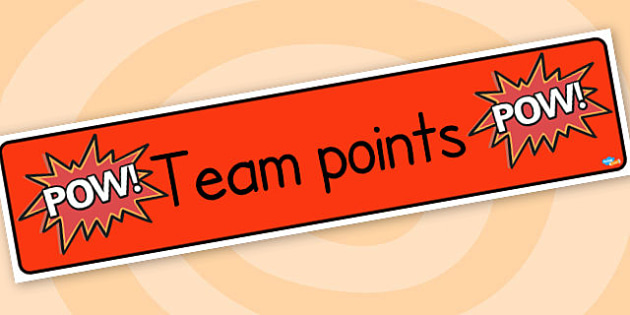 Team points banner - display lettering - Classroom Banners Primary Resources, Banners, Classroom Signs