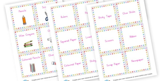 Equipment Labels - Classroom Signs & Label Primary Resources, labels, posters, rules