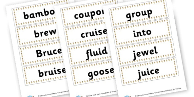 oo Extended Code Word Cards - Words & Vocab Primary Resources, literacy, keywords, cvc, phonemes