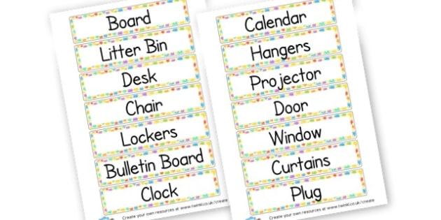 Final classroom Tags - Classroom Signs & Label Primary Resources, labels, posters, rules
