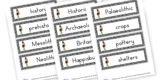 Stone Age Word Cards - History The Stone Age Primary Resources - KS2 History Primary Res