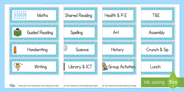 Daily Timetable  Visual Timetables Primary Resources Visual